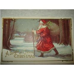 ANTIQUE SANTA CLAUS ST NICK POSTCARD EMBOSSED #1679140