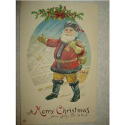 ANTIQUE SANTA CLAUS ST NICK POSTCARD EMBOSSED #1679141