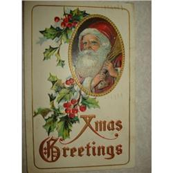 ANTIQUE SANTA CLAUS ST NICK POSTCARD EMBOSSED #1679143