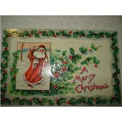 ANTIQUE SANTA CLAUS ST NICK POSTCARD EMBOSSED #1679144