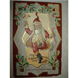 ANTIQUE SANTA CLAUS ST NICK POSTCARD EMBOSSED #1679145