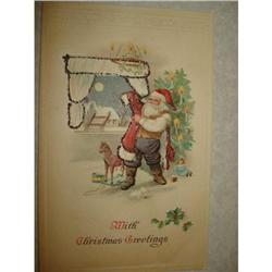 ANTIQUE SANTA CLAUS ST NICK POSTCARD EMBOSSED #1679146
