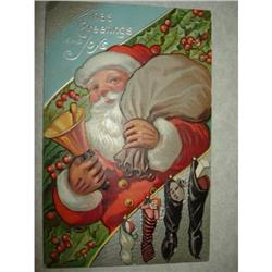 ANTIQUE SANTA CLAUS ST NICK POSTCARD EMBOSSED #1679147