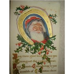 ANTIQUE SANTA CLAUS ST NICK POSTCARD EMBOSSED #1679148