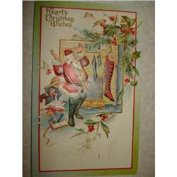 ANTIQUE SANTA CLAUS ST NICK POSTCARD EMBOSSED #1679149