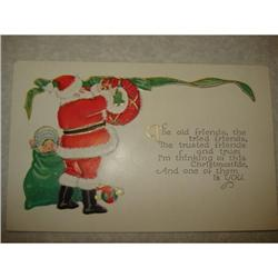 ANTIQUE SANTA CLAUS ST NICK POSTCARD EMBOSSED #1679151