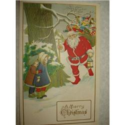 ANTIQUE SANTA CLAUS ST NICK POSTCARD EMBOSSED #1679152