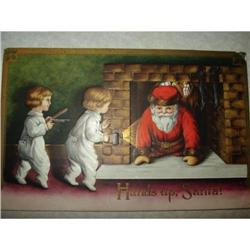 ANTIQUE SANTA CLAUS ST NICK POSTCARD EMBOSSED #1679154