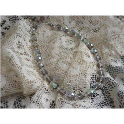 FABULOUS CRYSTAL 1950s CHOKER  NECKLACE #1679167