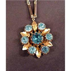 Unique Large Rhinestone Necklace Beautiful #1679168