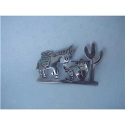 CUTE VINTAGE SIGNED MEXICAN SILVER BROOCH  #1679169