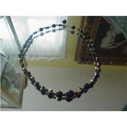 1950s LUSTROUS BLACK BEAD NECKLACE VERY DIOR #1679170