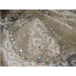 VINTAGE AUSTRIAN CRYSTAL BEAD COLLAR NECKLACE #1679173