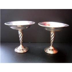 Pair of American sterling compote bowls #1679180