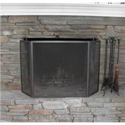 Contemporary Metal Fireplace Screen #1679181