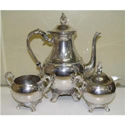Silver over Copper Plated Tea Pot Sugar #1679184