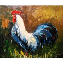 Kathy Hart, Original Oil Painting Rooster