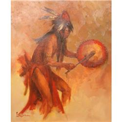 Lyle Tayson, Oil Painting Indian Dancer