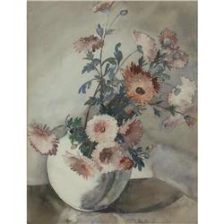 WATERCOLOR PAUL J. IMMEL FLOWER ARRANGEMENT