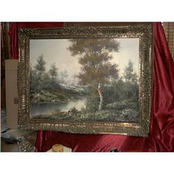 Large Oil on Canvas by Carlo Tedeschi #1697787