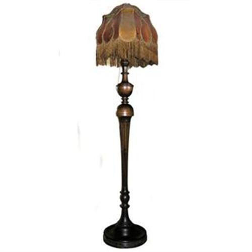 Antique Victorian Wooden Floor Lamp #