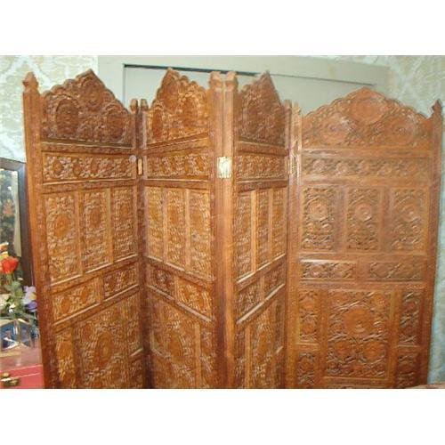 CARVED WOODEN DRESSING SCREEN ROOM DIVIDER 1683478