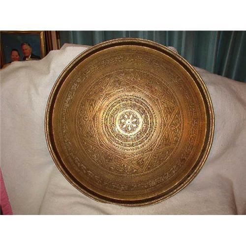 Antique Round Brass Coffee Table Furiture Table 1726075
