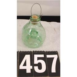 Vintage Green Glass Bug Trap