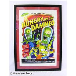 "The Simpsons ""Hungry Are The Damned"" Framed Poster"