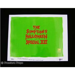 The Simpsons Halloween Special XII Cel