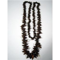 A FINE AND RARE TASMANIAN SHELL NECKLACE,