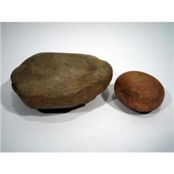 TWO AUSTRALIAN LITHIC ARTEFACTS,