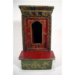 A PORTABLE TIBETAN SHRINE,