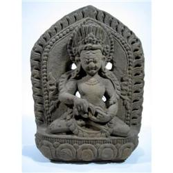 A SUPERB TIBETAN SCULPTURE OF MAHAKLA,