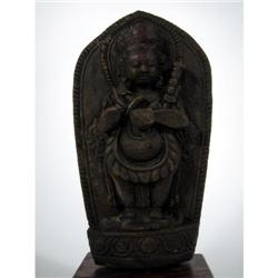 A NEPALESE SCULPTURE OF BHAIRAVA,