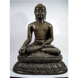 A SUPERB AVA KINGDOM BRONZE BUDDHA,