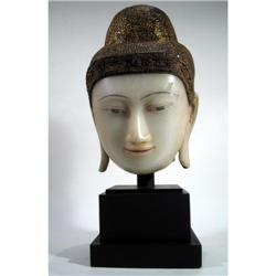 A SUPERB MANDALAY HEAD OF BUDDHA,