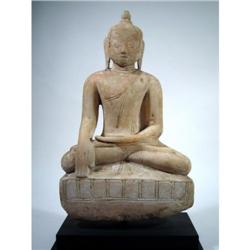 A SUPERB SHAN ALABASTER BUDDHA,