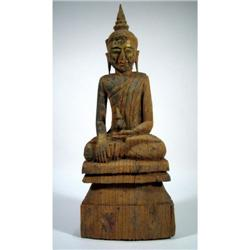 A RARE TAI YAI SCULPTURE OF BUDDHA,