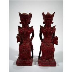 TWO BALINESE SCULPTURES,