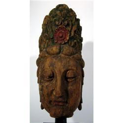 A RARE SUNG DYNASTY HEAD OF QUANYIN,