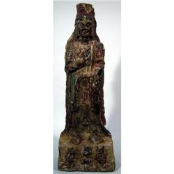 A RARE NORTHERN WEI TO SUI DYNASTY STONE SCULPTURE,