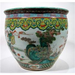 A FINE LATE CHING DYNASTY PORCELAIN BOWL,