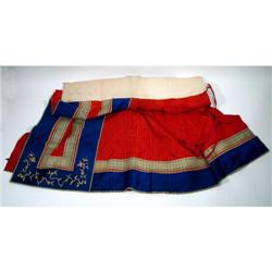 A FINE CHING DYNASTY SILK SKIRT,