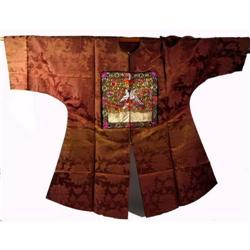 A SPLENDID CHING DYNASTY SILK ROBE,