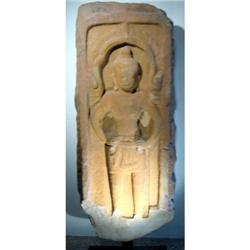 A SUPERB KHMER SANDSTONE RELIEF,