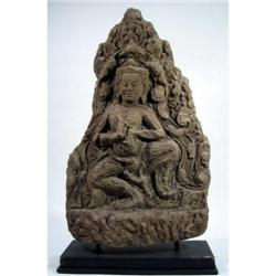 A FINE KHMER SANDSTONE RELIEF,