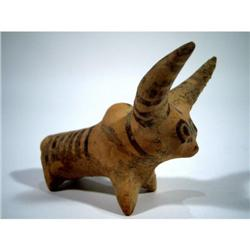A FINE INDUS VALLEY CERAMIC SCULPTURE (Mohenjodaro),