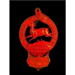 John Deere Cast Iron Pocket Plaque