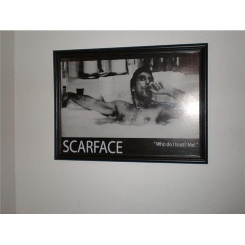 nice framed scarface poster quotwho do i trust 1734810
